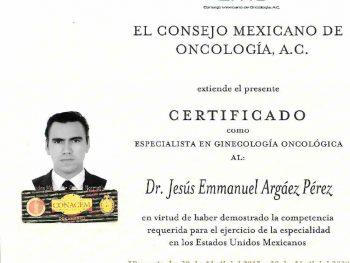 Certificado Especialista en Ginecología Oncológica