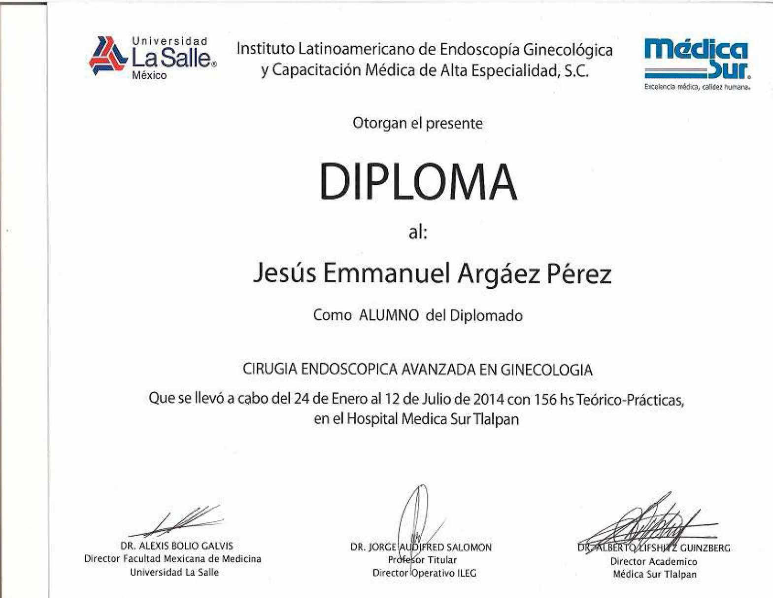 Diploma Cirugía Endoscópica Avanzada en Ginecología